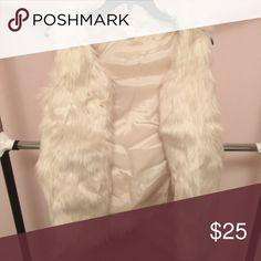 White false fur vest False fur. Size XS. Fits like a small. Never worn. Brand new! From a smoke free home. Missoni Jackets & Coats Vests