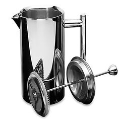 35 oz Insulated Polished Stainless Steel French Press In Mirror Finish Includes Double Wall Insulated French Press With Stainless Steel Lid And Plunger Unit On Top -- Click affiliate link Amazon.com on image for more details.