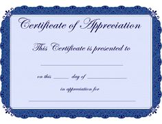 free printable certificates Certificate of Appreciation certificate ...