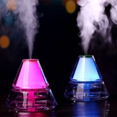 oobest Air Humidifier USB Ultrasonic Aroma Essential Oil Diffuser Iceberg Air Refreshener With Night Light Mist Maker Aroma Essential Oil, Essential Oil Diffuser, Aromatherapy Diffuser, Led Night Light, Night Lights, Usb, Humidifiers, Appliances