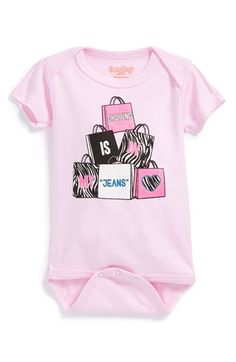 Sara Kety Baby & Kids 'Shopping Jeans' Short Sleeve Bodysuit (Baby Girls) available at #Nordstrom