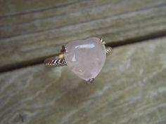Rose quartz ring in sterling silver by Billyrebs on Etsy