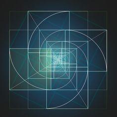 sacred geometry. golden ratio. infinite perfection.