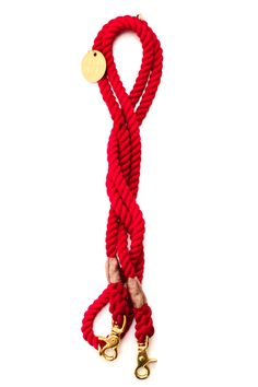 ADJUSTABLE RED ROPE LEASH BY FOUND MY ANIMAL – Lucy & Co. Love the look of a Rope Leash