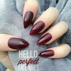 #fall #nails #marsala