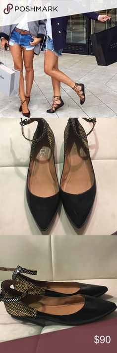 BCBG Metalic Strappy Flats BCBG Paris BCBG Shoes Flats & Loafers