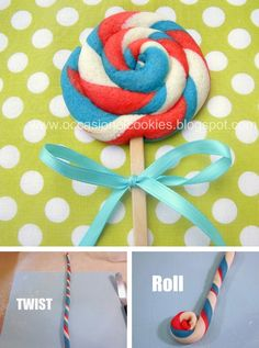 Lollipop cookie in Cookies, biscuits and shortbreads recipes, preparation of the ingredients and step by step instructions of how to cook and bake
