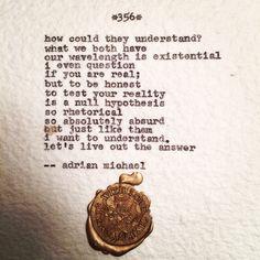 Blinking Cursor Series No. 356 #adrianmichael #typewriter #poetry