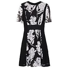 Buy French Connection Shadow Bloom Floral Dress, Black Online at johnlewis.com