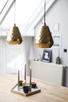 a touch of gold for our dining area