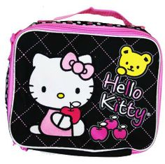 Hello Kitty Lunch Bag - Sanrio Hello Kitty Lunch Box by Sanrio. $11.87. Measures Approximately: 9.5 Wide x 8 Tall x 3.5 Wide (Inch). Soft and insulated inside.. Unzips on 3 Sides. Handle Strap and Shoulder Strap. USA seller with fast shipping!