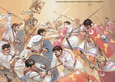 PRAETORIANS ATTEMPT TO CAPTURE THE EAGLE OF LEGIO II PARTHICA, IMMAE, AD 218