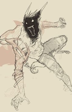 Fantasy Character Design, Character Design Inspiration, Character Art, Animal Drawings, Cool Drawings, Werewolf Art, Creepy Art, Monster Art, Art Graphique