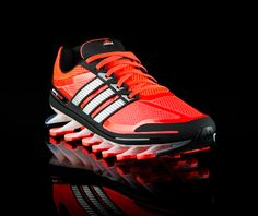 adidas springblade - the first running shoe with individually tuned blades engineered to propel runners forward