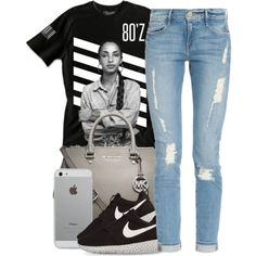 Sade by queenbrittani on Polyvore featuring Frame Denim, NIKE and MICHAEL Michael Kors
