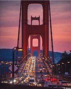 """Beautiful metaphor of dark vs. Light on a bridge known for """"golden opportunities"""""""