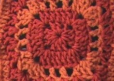 Crochet Geek - Free Instructions and Patterns: SunRise Granny Square