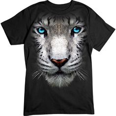 [Basic Tee] - Oversized White Tiger - Artopia | Our crew neck tee is made with 4.5 oz. 100% super soft combed ring-spun cotton and is preshrunk.
