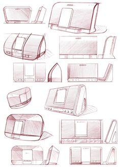 Industrial Interior Design, Industrial Design Sketch, Interior Design Photos, Industrial Interiors, Radio Design, Speaker Design, Drawing Furniture, Sketching Techniques, Sketch Inspiration
