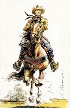 Luca Vannini: Tex Willer, sketch http://www.nedbajalica.blogspot.it/2014/05/tu-che-chai-preso-il-cuor-la-sublime.html