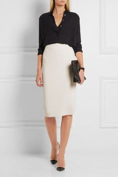Stella McCartney | Sculptural stretch wool-blend pencil skirt | NET-A-PORTER.COM