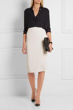 Stella McCartney | Sculptural stretch wool-blend pencil skirt | NET-A-PORTER.COM