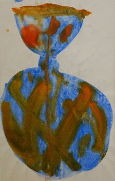 Lubomir Blecha, design for glass object, 1960, aquarelle on paper, M: 41,0 x 26,0 cm, UMPRUM Prague First Contact, Fascinator, Glass Art, Tropical, Bohemian, Paper, Artist, Design, Painting