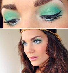 Products by Make Up Store:  Use Microshadow City Jungle and Eye pencil Snowflake to get those eyes to really pop.