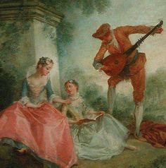 Nicolas Lancret (1690-1743) - The Lessson of Music, 1743, Museum Louvre, Paris