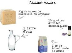 Making your ecological laundry: with Marseille soap and baking soda . - Make your ecological laundry: with Marseille soap and baking soda - Self Branding, Cleaners Homemade, I Can Do It, Natural Cleaning Products, Green Life, Soap Making, How To Know, Clean House, Helpful Hints