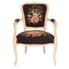 Vintage French Parlor Chair.... my grandma had a chair so similar... I think it broke, but man I wish I still had it!