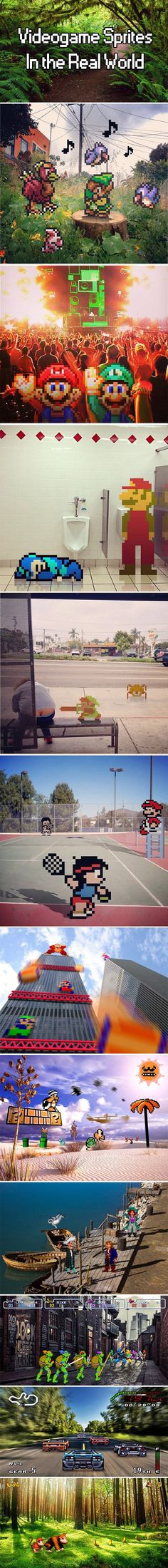 Videogame Sprites in real life - in which Mario and Luigi go clubbin'.