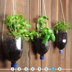 Things You Can Upcycle Into Planters Things You Can Upcycle Into Planters Instant Hair Root Repair 3 Self-Watering Hacks For Your Plants Horta em Casa: 20 Modelos Incríveis para Montar a Sua Diy Garden, Garden Crafts, Garden Planters, Indoor Garden, Garden Projects, Indoor Plants, Garden Ideas, Spring Garden, Diy Planters