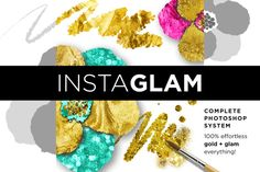 Check out InstaGlam Gold Foil +Glam PSD System by Jessica Johnson on Creative Market