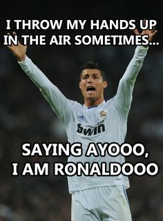 im sorry mikala but this is funny! Soccer Jokes, Soccer News, Football Memes, Sports Memes, Football Soccer, Funny Soccer, Soccer Stuff, Ronaldo Memes, Cristino Ronaldo