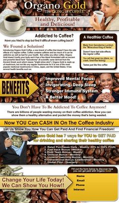 Benefits of Organo Gold Coffee You can order from me here: www.streit.myorganogold.com