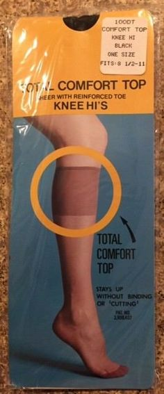 a5d72bd5e02e2 Soft pretty sheer reinforced toe black knee highs my 4 10
