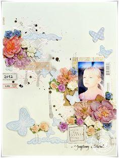 Fairy Rhymes layout by Lene Bjornerud for Prima! www.prima.typepad.com