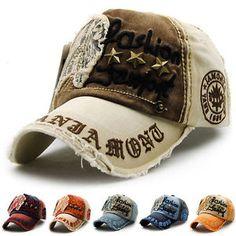 4ff8d508 Women Men Baseball Cap Letters Embroidery Peaked Cap Denim Distressed Hat  Retro | eBay