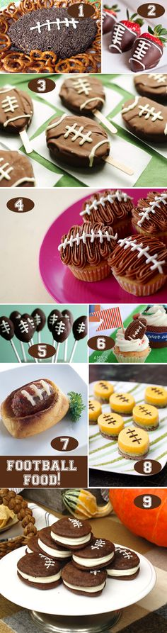 9 Football Shaped Food + Treat Pictures #recipes #tailgate #football