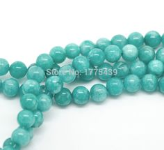 """Cheap agate beads, Buy Quality jewelry beads directly from China beads free shipping Suppliers: Free Shipping Wholesale 4 6 8 10 12mm Natural Blue Amazonite Round loose stone jewelry Beads  agat Beads 15"""" DIY Enjoy ✓Free Shipping Worldwide! ✓Limited Time Sale✓Easy Return. Agate Beads, Gemstone Beads, Jewelry Making Beads, Beaded Jewelry, Cheap Beads, Beading Supplies, Blue Beads, Stone Jewelry, Natural Gemstones"""