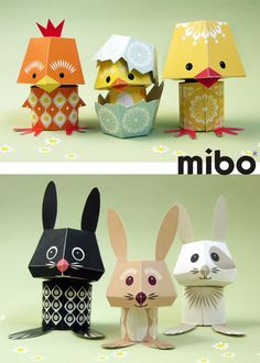 Cool Things to Make with Paper   Things To Make & Do This Easter: Mibo's Yolk Folk & Carrot Crew