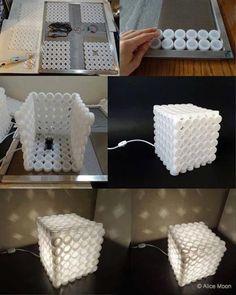 Réutiliser des bouchons en plastique.