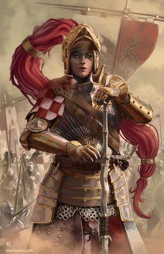 Bronze warrior queen