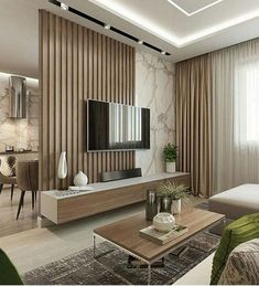 Living Room Partition, Room Partition Designs, Living Room Divider, Wall Partition, Cozy Living Rooms, Home Living Room, Interior Design Living Room, Modern Apartment Design, Modern Interior Design