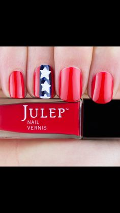 Julep Nail Art Idea for July - I do believe I ordered the colors for this set as a bonus/add-on for my July box. Love Nails, How To Do Nails, Fun Nails, 4th Of July Nails, July 4th, Nail Polish Designs, Nail Designs, Patriotic Nails, Pretty Nail Colors