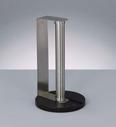 Zeller 24857 Porte essuie-tout en acier inoxydable et en plastique, ø 17 cm, hauteur 30 cm: Amazon.fr: Cuisine & Maison
