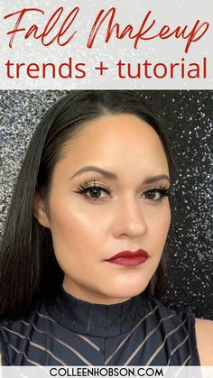 5 fabulous Fall makeup trends to copy and the makeup products you need to pull them off. Video tutorial included. Makeup Trends, Makeup Tips, Makeup Products, Broken Makeup, Dewy Skin, Fall Makeup, Makeup Techniques, Matte Lips, Tutorials