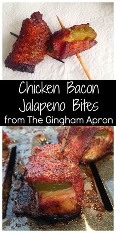 Chicken Bacon Jalapeno Bites- These will fly off the plate at your next football get together! The best!