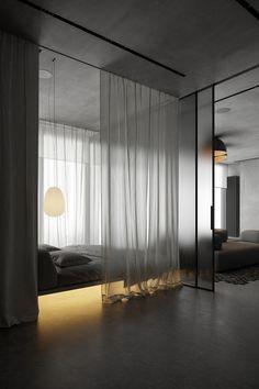 Home Room Design, Dream Home Design, Home Interior Design, Interior Architecture, Modern Bedroom, Bedroom Decor, Deco Studio, Dark Interiors, Luxurious Bedrooms